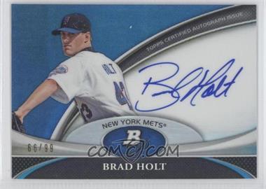 2011 Bowman Platinum Prospect Autographs Blue Refractor #BPA-BHO - Brad Holt /99