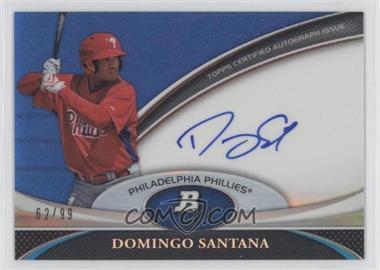 2011 Bowman Platinum Prospect Autographs Blue Refractor #BPA-DS - Domingo Santana /99