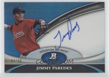 2011 Bowman Platinum Prospect Autographs Blue Refractor #BPA-JP - Jimmy Paredes /99