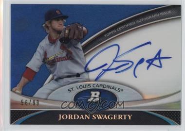 2011 Bowman Platinum Prospect Autographs Blue Refractor #BPA-JSW - Jordan Swaggerty /99