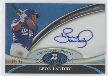 2011 Bowman Platinum Prospect Autographs Blue Refractor #BPA-LL - Leon Landry /99