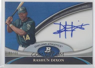2011 Bowman Platinum Prospect Autographs Blue Refractor #BPA-RD - Rashun Dixon /99
