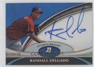 2011 Bowman Platinum Prospect Autographs Blue Refractor #BPA-RDE - Randall Delgado /99