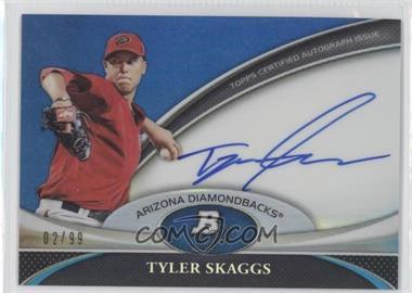 2011 Bowman Platinum Prospect Autographs Blue Refractor #BPA-TS - Tyler Skaggs /99