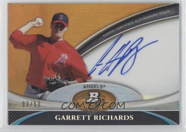 2011 Bowman Platinum Prospect Autographs Gold Refractor [Autographed] #BPA-GR - Garrett Richards /50