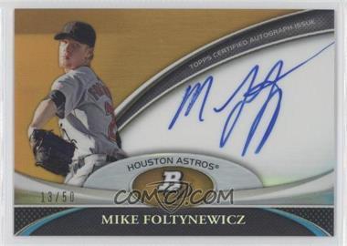 2011 Bowman Platinum Prospect Autographs Gold Refractor #BPA-MF - Mike Foltynewicz /50