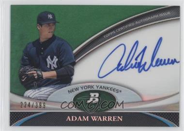 2011 Bowman Platinum Prospect Autographs Green Refractor [Autographed] #BPA-AWA - Adam Warren /399