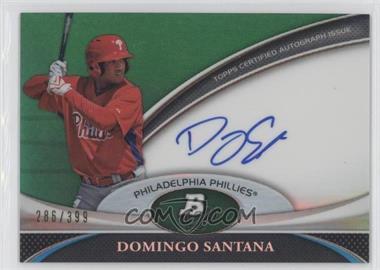 2011 Bowman Platinum Prospect Autographs Green Refractor [Autographed] #BPA-DS - Domingo Santana /399