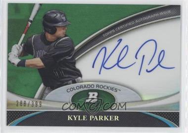 2011 Bowman Platinum Prospect Autographs Green Refractor [Autographed] #BPA-KP - Kyle Parker /399