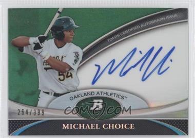 2011 Bowman Platinum Prospect Autographs Green Refractor [Autographed] #BPA-MC - Michael Choice /399