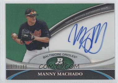 2011 Bowman Platinum Prospect Autographs Green Refractor [Autographed] #BPA-MM - Manny Machado /399