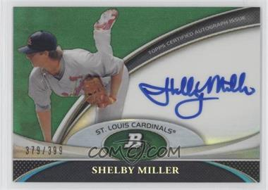 2011 Bowman Platinum Prospect Autographs Green Refractor [Autographed] #BPA-SM - Shelby Miller /399