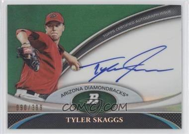 2011 Bowman Platinum Prospect Autographs Green Refractor [Autographed] #BPA-TS - Tyler Skaggs /399