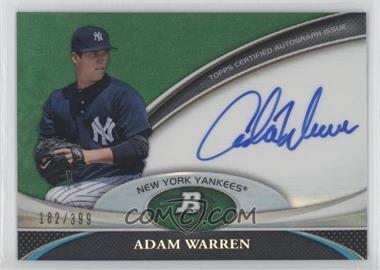 2011 Bowman Platinum Prospect Autographs Green Refractor #BPA-AWA - Adam Warren /399