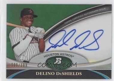 2011 Bowman Platinum Prospect Autographs Green Refractor #BPA-DD - Delino DeShields Jr. /399