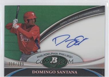2011 Bowman Platinum Prospect Autographs Green Refractor #BPA-DS - Domingo Santana /399