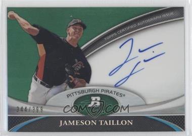 2011 Bowman Platinum Prospect Autographs Green Refractor #BPA-JT - Jameson Taillon /399
