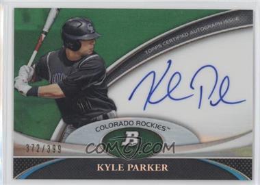 2011 Bowman Platinum Prospect Autographs Green Refractor #BPA-KP - Kyle Parker /399