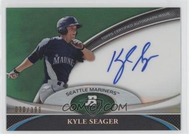 2011 Bowman Platinum Prospect Autographs Green Refractor #BPA-KS - Kyle Seager /399