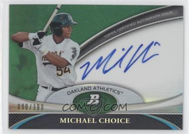 2011 Bowman Platinum Prospect Autographs Green Refractor #BPA-MC - Michael Choice /399