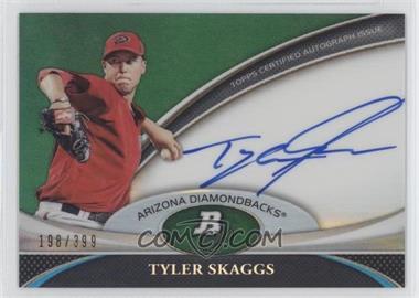2011 Bowman Platinum Prospect Autographs Green Refractor #BPA-TS - Tyler Skaggs /399