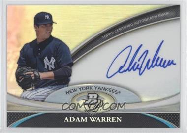 2011 Bowman Platinum Prospect Autographs #BPA-AWA - Adam Warren