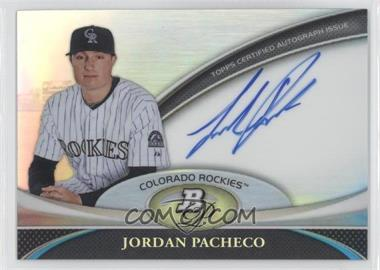 2011 Bowman Platinum Prospect Autographs #BPA-JPA - Jordan Pacheco