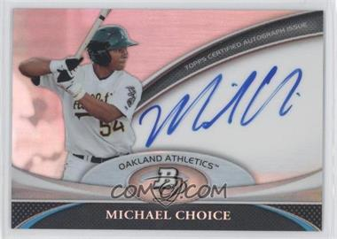 2011 Bowman Platinum Prospect Autographs #BPA-MC - Michael Choice