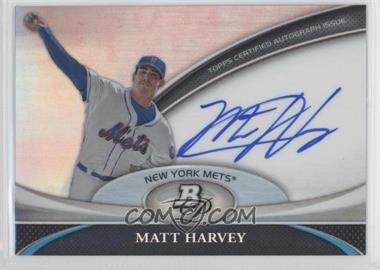 2011 Bowman Platinum Prospect Autographs #BPA-MH - Matt Harvey