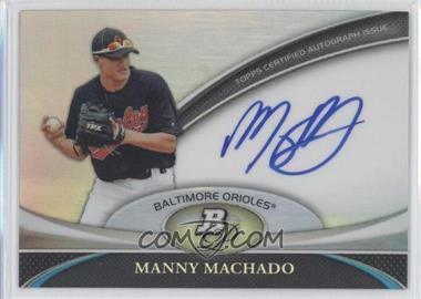2011 Bowman Platinum Prospect Autographs #BPA-MM - Manny Machado