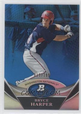 2011 Bowman Platinum Prospects Blue Refractor #BPP1 - Bryce Harper /199