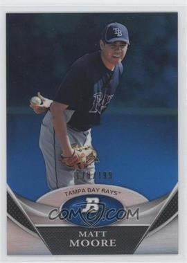 2011 Bowman Platinum Prospects Blue Refractor #BPP98 - Matt Moore /199