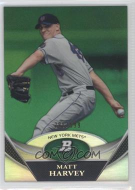 2011 Bowman Platinum Prospects Green Refractor #BPP66 - Matt Harvey /599
