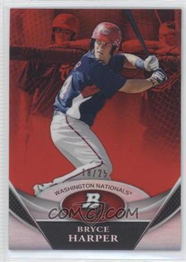 2011 Bowman Platinum Prospects Red Refractor #BPP1 - Bryce Harper /25