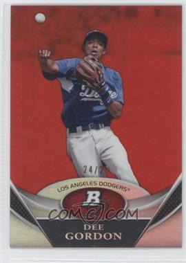 2011 Bowman Platinum Prospects Red Refractor #BPP2 - Dee Gordon /25