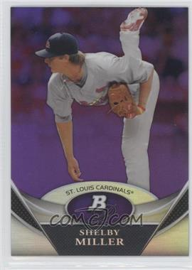 2011 Bowman Platinum Retail Prospects Purple Refractor #BPP72 - Shelby Miller