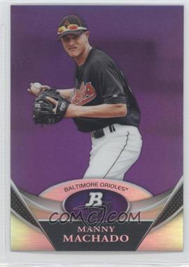 2011 Bowman Platinum Retail Prospects Purple Refractor #BPP83 - Manny Machado