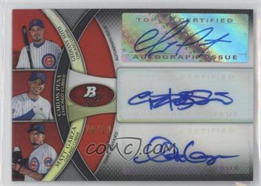 2011 Bowman Platinum Triple Autograph Red Refractor [Autographed] #TA-SPG - Geovany Soto, Carlos Pena, Matt Garza /10
