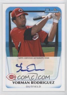 2011 Bowman Prospects Certified Autograph [Autographed] #BPA-YR - Yorman Rodriguez