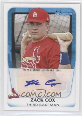 2011 Bowman Prospects Certified Autograph [Autographed] #BPA-ZC - Zack Cox