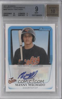 2011 Bowman Prospects Certified Autographs #BPA-MM - Manny Machado [BGS 9]