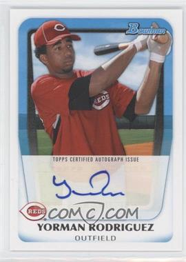 2011 Bowman Prospects Certified Autographs #BPA-YR - Yorman Rodriguez