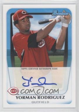 2011 Bowman Prospects Certified Autographs #BPA-YR - Yorman Rodriguez
