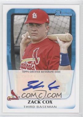 2011 Bowman Prospects Certified Autographs #BPA-ZC - Zack Cox