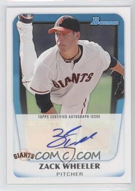 2011 Bowman Prospects Certified Autographs #BPA-ZW - Zack Wheeler