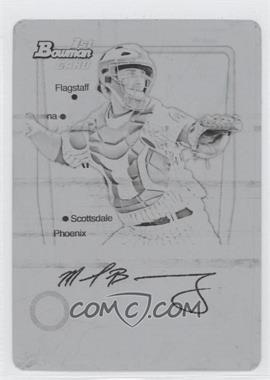 2011 Bowman Prospects International Printing Plate Black #BP15 - Michael Brenly /1