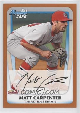 2011 Bowman Prospects Orange #BP66 - Matt Carpenter /250