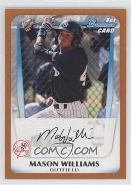 2011 Bowman Prospects Orange #BP85 - Mason Williams /250