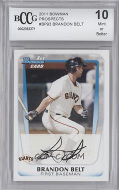 2011 Bowman Prospects #BP93 - Brandon Belt [ENCASED]