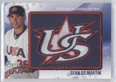 2011 Bowman Replica 2010 USA Baseball Cap Patch #USA-29 - Sean Gilmartin /25